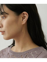 Metal twist bar earring【made in JAPAN】