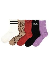 devirock ソックス5Pセット 靴下 デビロック 子供服 キッズ デビロック ファッショングッズ ソックス/靴下
