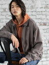 coen 【WEB限定】KANGOL(カンゴール)ブリティッシュチェックビッグシルエットドリズラージャケット コーエン コート/…