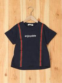 【SALE/50%OFF】FORTYONE FORTYONE/(K)サスペンダー風Tシャツ フォーティワン カットソー キッズカットソー ネイビー ホワイト レッド