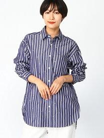 ラメスター刺しゅうギザコットンブロードボリュームシャツ ハッカ シャツ/ブラウス【送料無料】