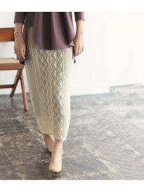 【SALE/60%OFF】ADAM ET ROPE' MIXパターンニットスカート アダムエロペ スカート スカートその他 ホワイト ブラック【送料無料】