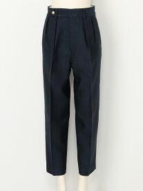 【SALE/20%OFF】beautiful people bright wool silk wide tapered pants ビューティフル ピープル パンツ/ジーンズ クロップド/半端丈パンツ ネイビー【送料無料】