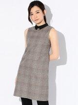 グレンチェックタイトドレス