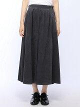 コーデュロイフレアースカート