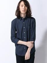 綿麻ストレッチオックス7分袖 シャツ