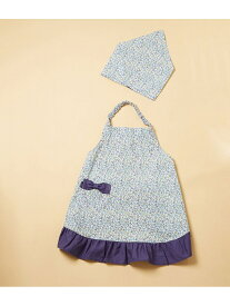 【SALE/50%OFF】ROPE' PICNIC 【ROPE' PICNIC KIDS】小花柄エプロンセット ロペピクニック 生活雑貨 キッチン/ダイニング ブルー ピンク