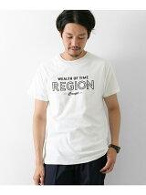 梨地Print Tシャツ REGION柄