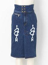 ハート刺繍デニムスカート