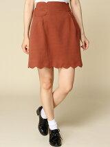 裾スカラップ台形スカート