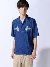 (M)ZIP FIVE オープンカラー刺繍半袖シャツ