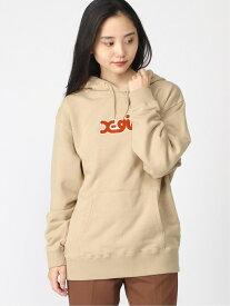 X-girl PATCH LOGO SWT HDY エックスガール カットソー パーカー ベージュ ブラック ブルー オレンジ【送料無料】
