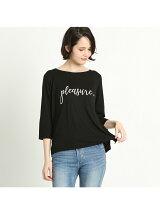 Pleasure-星刺繍ロゴTシャツ