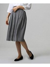 UNTITLED クラシカルチドリプリントスカート アンタイトル スカート スカートその他 ブラック ベージュ ホワイト【送料無料】