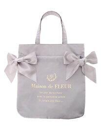 Maison de FLEUR ダブルリボントートバッグ メゾン ド フルール バッグ トートバッグ グレー ブラック ネイビー ピンク ブルー【送料無料】