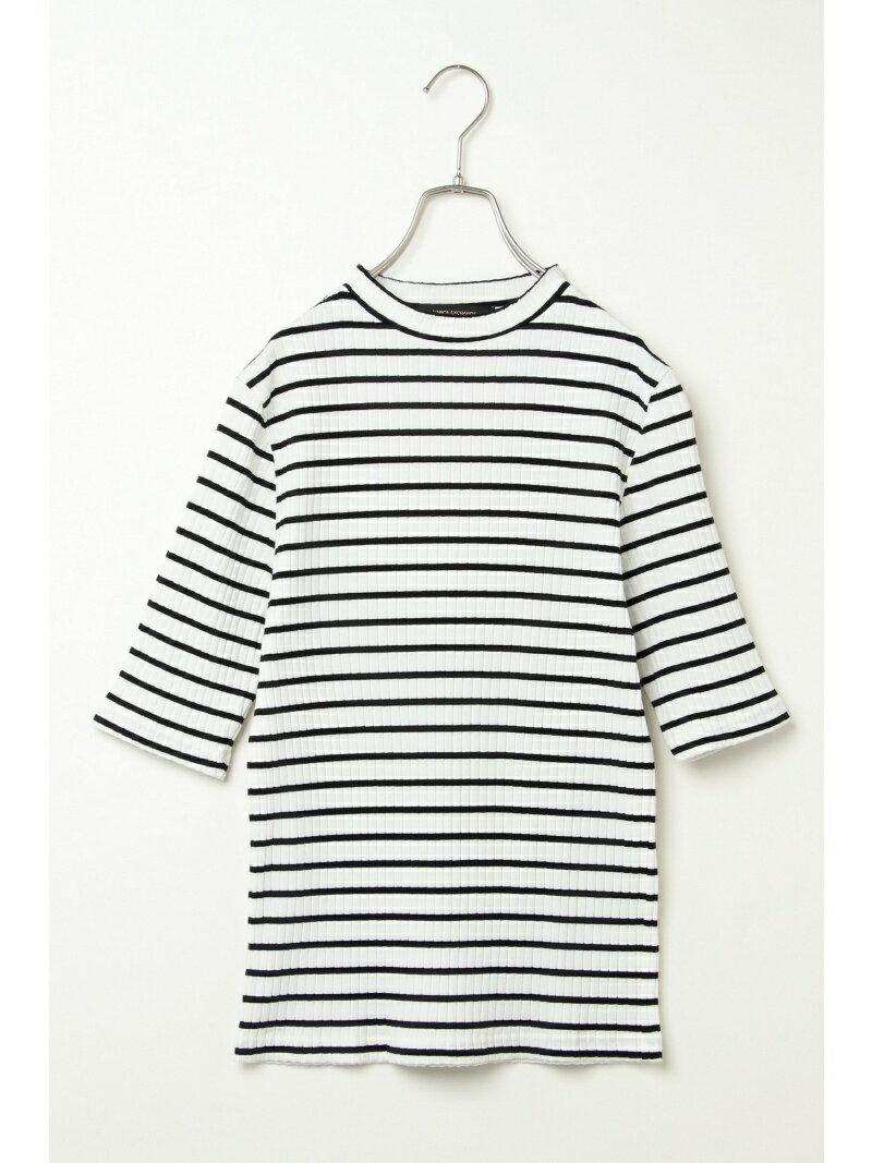 【SALE/47%OFF】VENCE share style Ladys リブモックネック5分袖Tシャツ ヴァンス エクスチェンジ カットソー【RBA_S】【RBA_E】