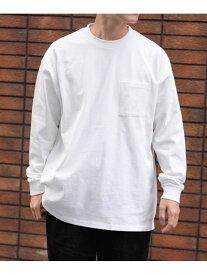 ITEMS SCREEN STARS 長袖Tシャツ アーバンリサーチアイテムズ カットソー Tシャツ ホワイト グレー グリーン ブラウン ブルー【送料無料】
