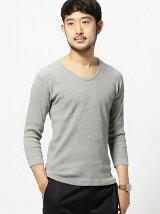 BEAMS / サーマル UネックTシャツ