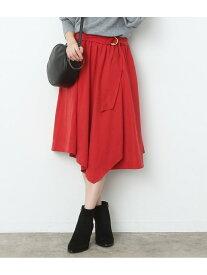 【SALE/70%OFF】ViS Dカンベルトハンカチーフヘムスカート ビス スカート スカートその他 レッド ブラウン ブラック