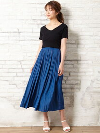 【SALE/59%OFF】INGNI ヴィンテージサテンギャザースカート イング スカート プリーツスカート/ギャザースカート ホワイト イエロー カーキ グレー ネイビー ブルー ベージュ ブラウン