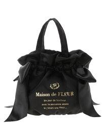 Maison de FLEUR ギャザー2Wayトートバッグ メゾン ド フルール バッグ トートバッグ ブラック ネイビー ピンク ブルー【送料無料】