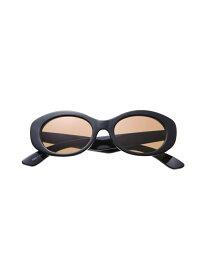 EVRIS オーバルフレームサングラス エヴリス ファッショングッズ サングラス ブラック