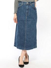 YANUK YANUK/(W) Aライン デニムスカート /57191032 ディヴィニーク スカート デニムスカート ブルー【送料無料】