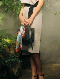【SALE/70%OFF】Viaggio Blu バイカラ—スカート ビアッジョブルー スカート スカートその他 ベージュ ブルー【送料無料】