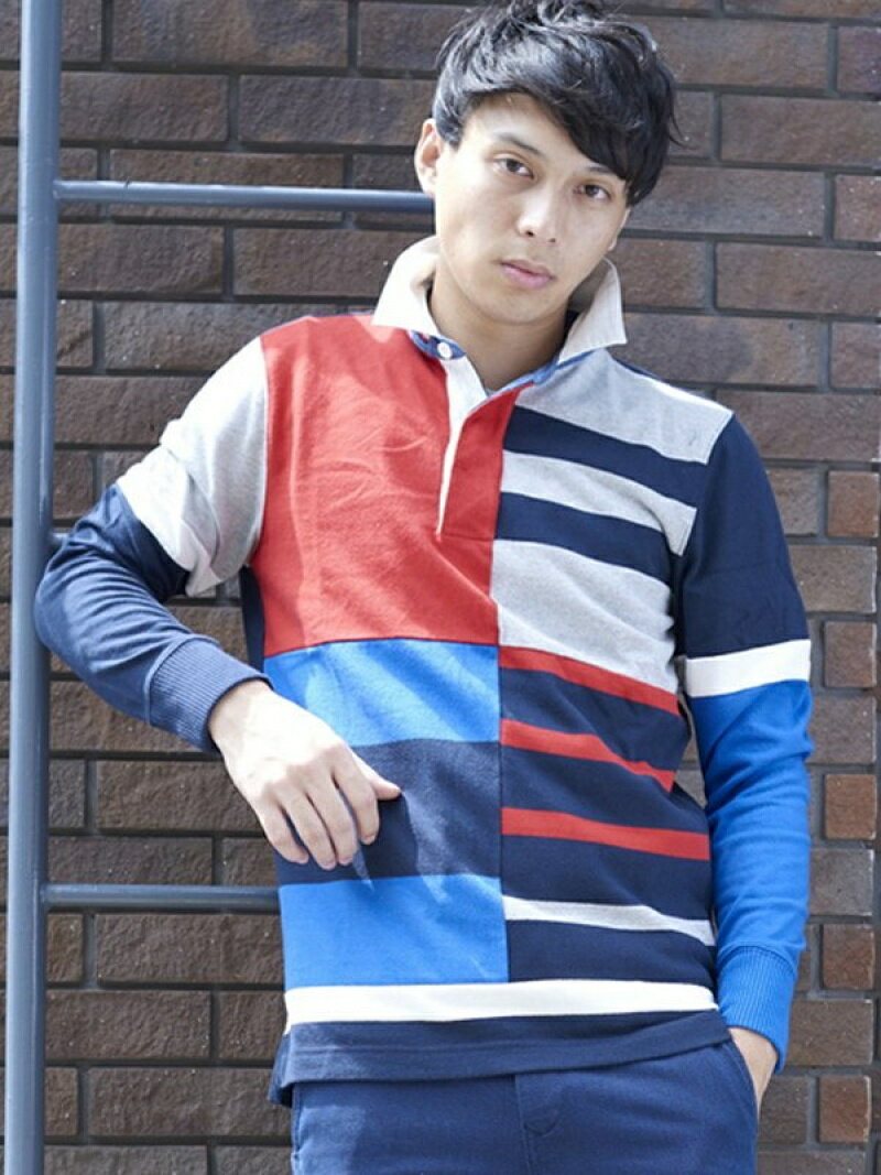 【SALE/40%OFF】TOMMY HILFIGER (M)ラグビーシャツ トミーヒルフィガー カットソー【RBA_S】【RBA_E】【送料無料】