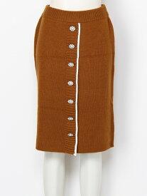 【SALE/50%OFF】titty&Co. ビジュースカラップタイトスカート ティティー アンド コー スカート タイトスカート ブラウン オレンジ レッド