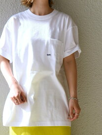 SHIPS 【WEB限定】SHIPS: マイクロ SHIPSロゴ ポケット Tシャツ シップス カットソー Tシャツ ホワイト ブラック レッド ネイビー