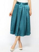 サテンミモレ丈スカート