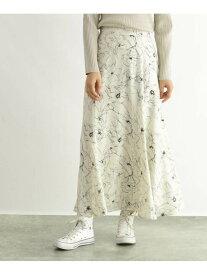 【SALE/70%OFF】OZOC [洗える]花柄マキシスカート オゾック スカート ロングスカート ホワイト ブラック