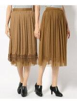 チュールプリーツヴィンテージサテン スカート