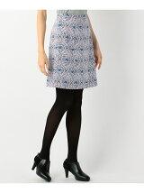 フラワーアラベスクプリントグログラン スカート