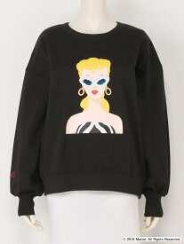 【SALE/45%OFF】Lily Brown Barbieスパンコールスウェット リリーブラウン カットソー スウェット ブラック ホワイト ピンク【送料無料】