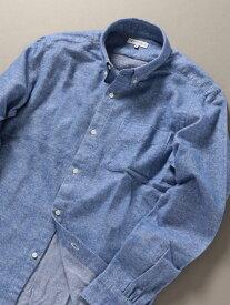 SHIPS JET BLUE SHIPSJETBLUE:ボタンダウンネルシャツソリッド シップス シャツ/ブラウス 長袖シャツ ブルー グレー ネイビー【送料無料】