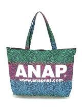 ANAP/ANAPロゴカラフルゼブラトートBAG