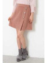 シャギーパール台形スカート