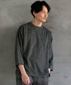 【SALE/55%OFF】coen ヨクバリネン・7分袖Tシャツ コーエン カットソー Tシャツ ブラック ベージュ