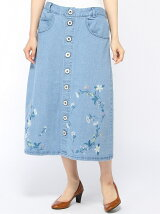 花々ししゅうスカート