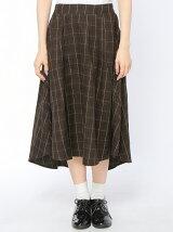 グレンチェックイレギュラーヘムスカート