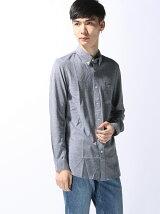 (M)コットンジャージースリムフィットシャツ (長袖)