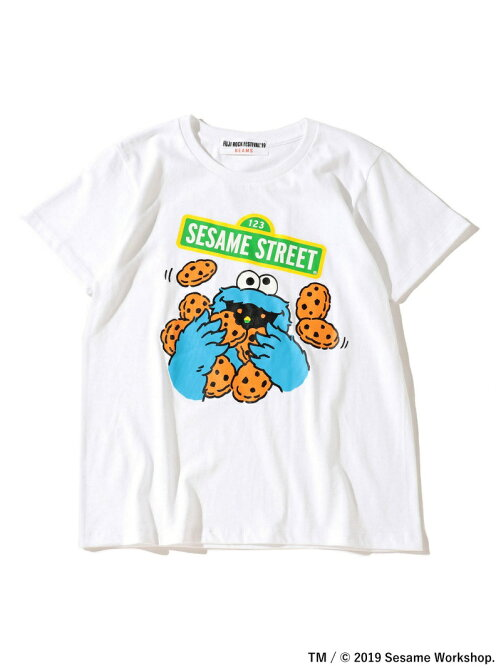 <WOMENS>FUJI ROCK FESTIVAL'19 × Ray BEAMS / SESAME STREET クッキーモンスター Tシャツ