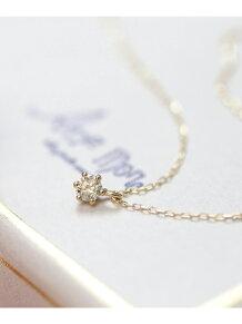 (W)クリスマス限定1粒ダイヤのネックレス[0.07ct]