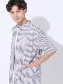 【SALE/50%OFF】coen SMITH'S別注バンドカラー半袖シャツ# コーエン シャツ/ブラウス 半袖シャツ ベージュ ネイビー