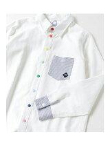 gym master/(U)カラフルスナップボタンシャツ