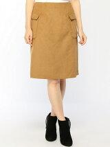 Techichi/ウールアウトポケット台形スカート