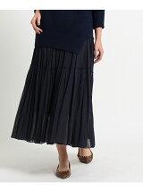 ウール混ボイル ティアードスカート