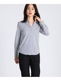 【SALE/10%OFF】CLEAR IMPRESSION ロングスリーブシャツ クリアインプレッション シャツ/ブラウス 長袖シャツ ネイビー ホワイト【送料無料】